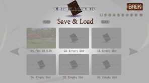 Save and Load menu