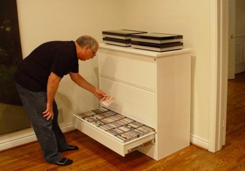 CanAm Vinyl LP Storage Cabinet