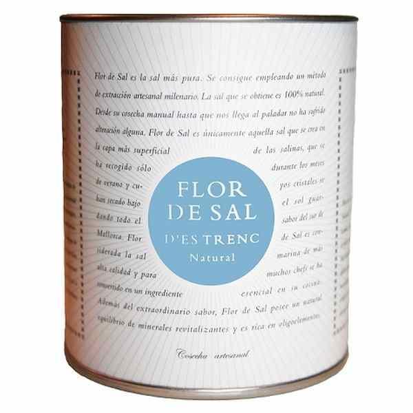 flor de sal d es trenc natural 180 gramm dose can gourmet the taste of mallorca. Black Bedroom Furniture Sets. Home Design Ideas