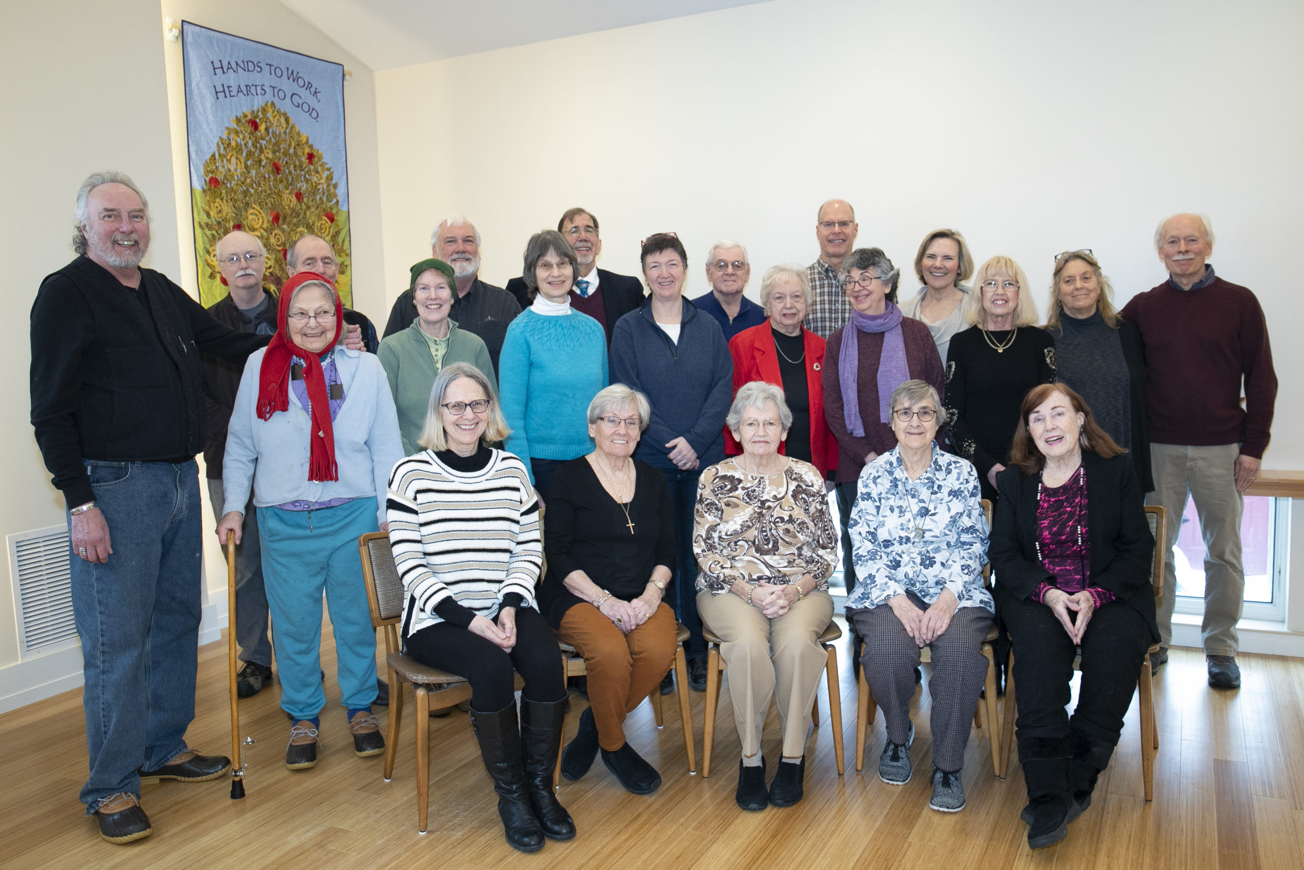 Canaan Congregational Church family in the new sanctuary