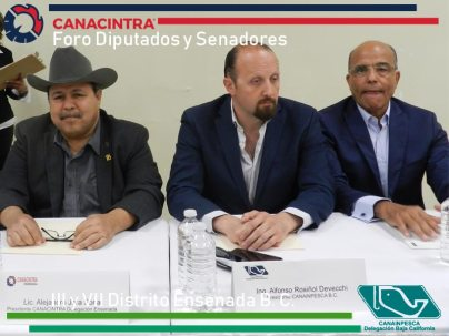 Presidentes de CANACINTRA Y CANAINPESCA