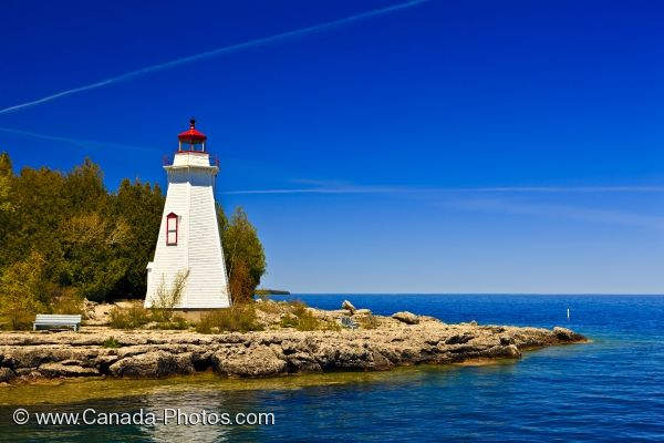 Fall In Michigan Wallpaper Big Tub Lighthouse Tobermory Harbour Lake Huron Photo