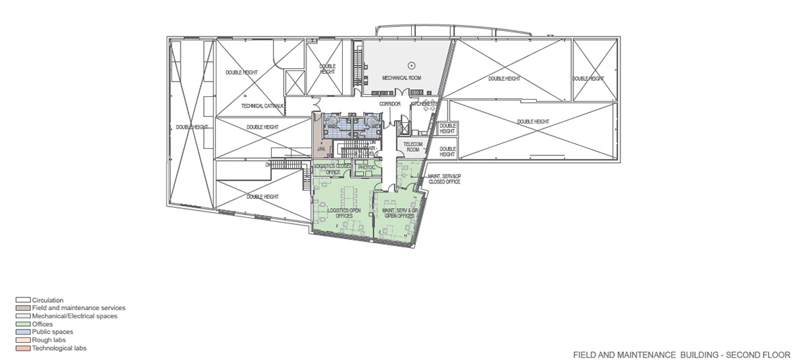 Canadian High Arctic Research Station (CHARS) floor plans