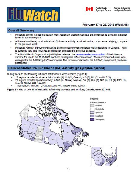 FluWatch report: February 17 to 23, 2019 (Week 08) - Canada.ca