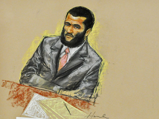 Canadian detainee Omar Khadr attends jury selection at his war crimes trial in Guantanamo Bay, Cuba August 10, 2010.