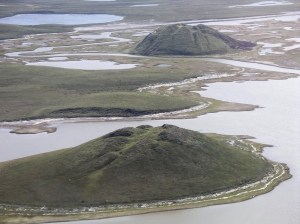 Pingos near Tuktoyaktuk By Emma Pike - public domain via Wikimedia Commons