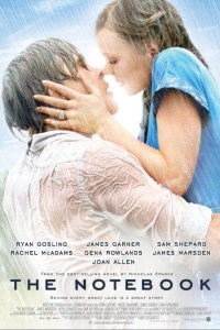 The Notebook staring Rachael McAdams and Ryan Gosling