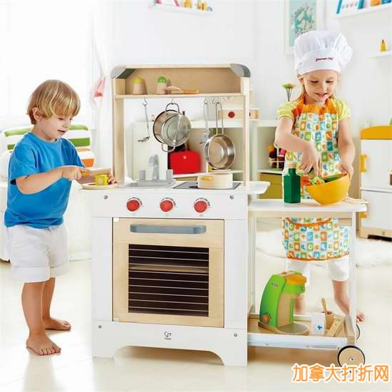 toy kitchen sets stone outdoor hape cook n serve kitchen儿童玩具厨房套装玩具送围裙4 4折75元特卖并 4折75