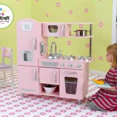 Retro Kids Kitchen Outdoor Accessories Kidkraft 53179 粉红复古款儿童木质厨房玩具套装7 3折156 99元限时特卖并 99元限时特卖