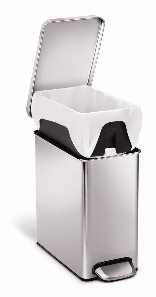 simplehuman kitchen trash can vans 10升不锈钢脚踏式垃圾桶7 7折39 99元限时特卖并包邮 99元限时特卖并