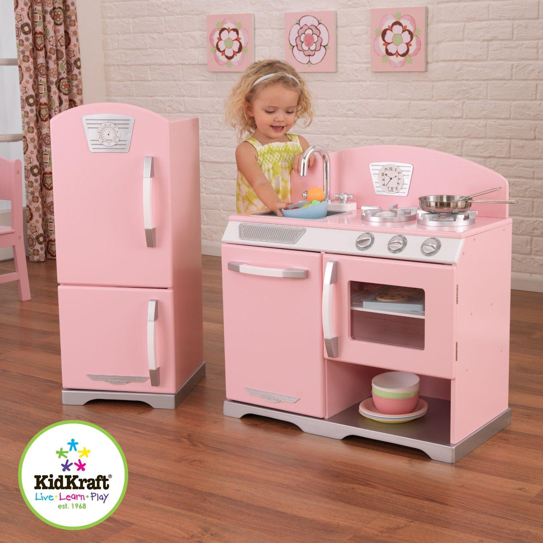 kid craft kitchen gel mat kidkraft 粉红儿童木质厨房玩具套装169 99元特卖 原价259元 包邮 包
