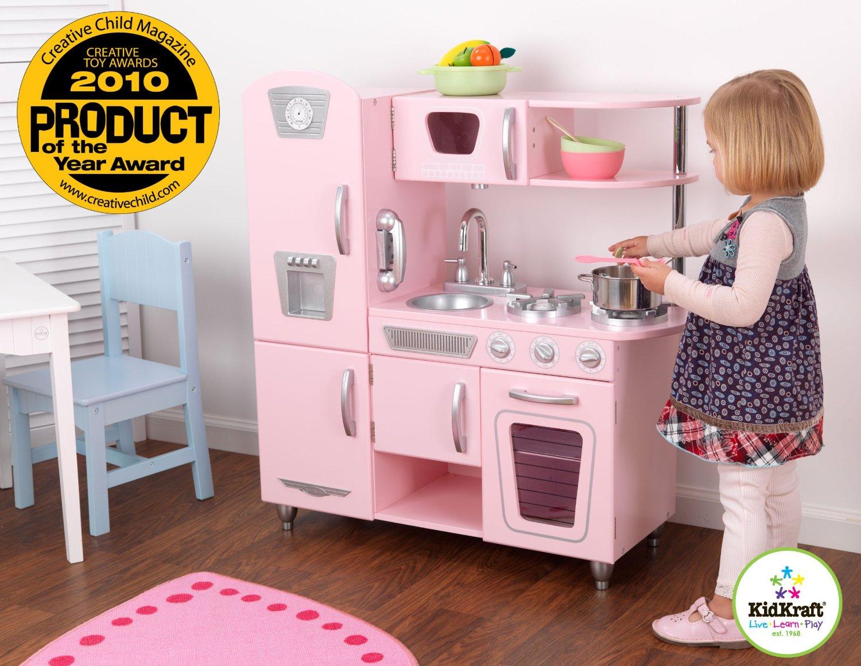 kid craft kitchen outdoor bbq kidkraft 53179 粉红复古款儿童木质厨房玩具套装164 99元 原价215