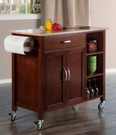cheap kitchen cart rubbed bronze faucet 历史新低 winsome wood mabel 实木厨房推车257 97加元包邮 加拿大打折网