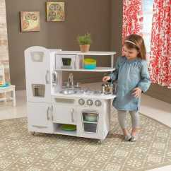 Retro Kids Kitchen Appliance Package 近史低价 Kidkraft 53208 白色复古款儿童仿真厨房4 6折119 99加元包邮 99