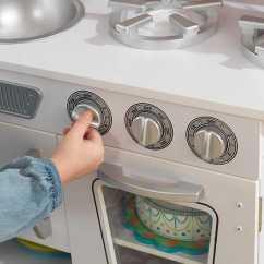 Retro Kids Kitchen Outdoor Kitchens Images 近史低价 Kidkraft 53208 白色复古款儿童仿真厨房4 6折119 99加元包邮 99