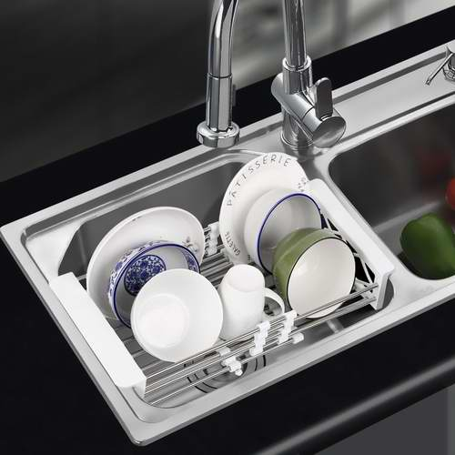 ss kitchen sinks how to build an outdoor counter homfa 多功能不锈钢水槽沥水架20 49加元限量特卖 加拿大打折网