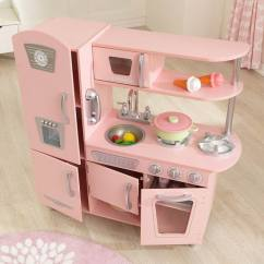 Kidkraft Toy Kitchen Long Island Design 销量冠军 53179 Vintage 粉红复古儿童木质玩具厨房6 9折149 99 99加