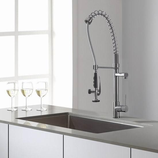 pull out kitchen faucets green cabinets 超级白菜 moldiy 可拉出式双口厨房水龙头0 3折13 99加元清仓 加拿大打折网 99加