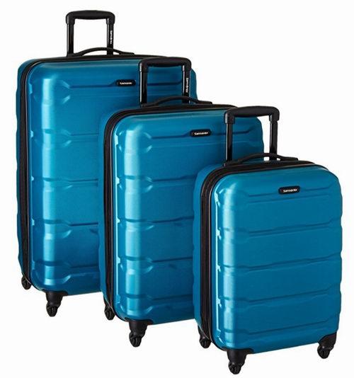 Samsonite 新秀麗 Omni 全PC 藍色款 超輕硬殼 拉桿行李箱 251.76加元包郵!_加拿大打折網
