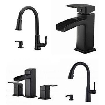 pull out kitchen faucets miami 金盒头条 精选4款pfister 哑光黑厨房水龙头 浴室水龙头5 9折起 浴室
