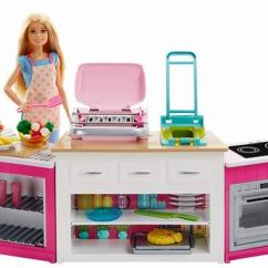 Barbie Kitchen Playset Hardware For Cabinets 芭比ultimate 终极厨房玩具59 97加元 原价74 99加元 包
