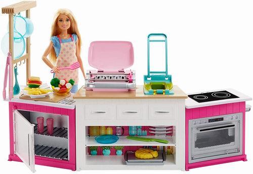 barbie kitchen playset best brand name appliances 芭比ultimate 终极厨房玩具59 97加元 原价74 99加元 包