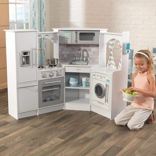 kid craft kitchen solid surface sinks 历史新低 kidkraft ultimate corner 终极仿真儿童玩具转角厨房4 3折 3折142 49加