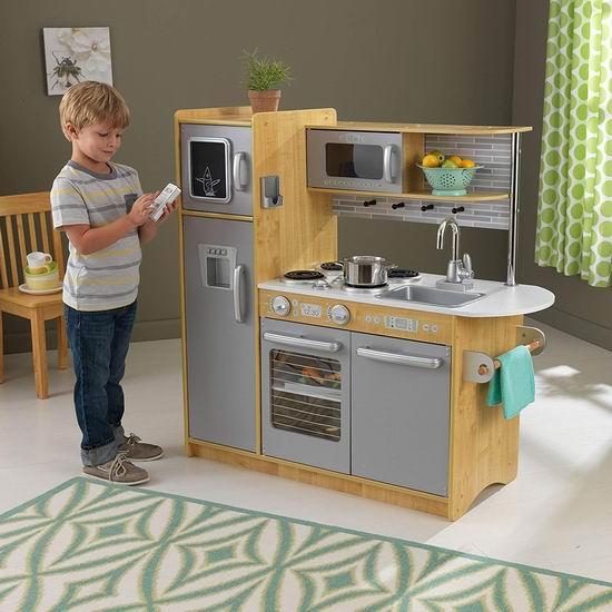 kid craft kitchen semi custom cabinets 历史新低 kidkraft 53298 uptown 天然木纹仿真儿童玩具厨房3 9折154 47