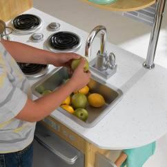Kidkraft Toy Kitchen Blue Color Cabinets 历史新低 53298 Uptown 天然木纹仿真儿童玩具厨房3 9折154 47