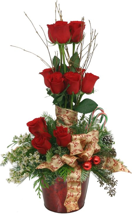Rose Topiary Premium Christmas Flowers Canada Flowers