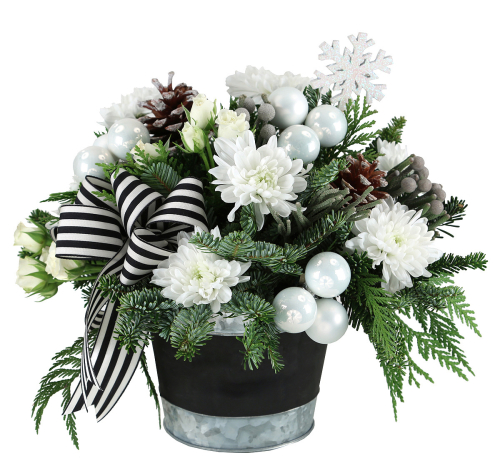 White Christmas Ch82aa Christmas Flower Arrangements Canada Flowers Ca