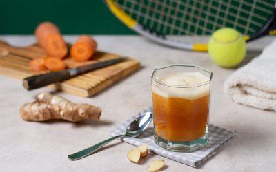 high-angle-drink-carrot-arrangement