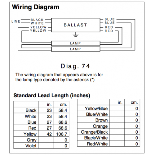 Philips electronic ballast wiring diagram