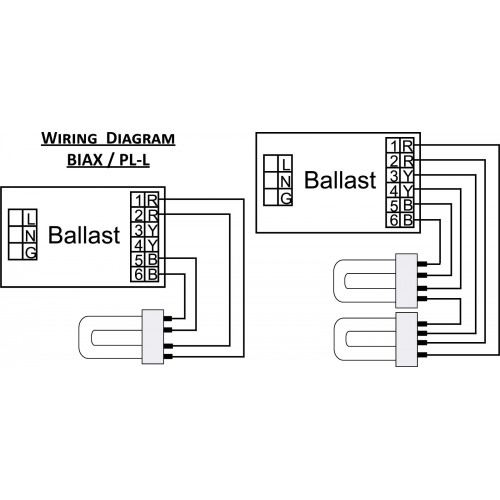 ballast wiring diagram for 2 u bulbs