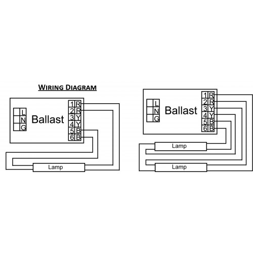 2 ballast with 4 lamps wiring diagram