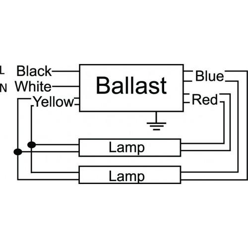 metal halide ballast wiring diagram 2001 chevy silverado 1500 headlight ultrasave gr240347 - 2-lamp f40t12 electronic fluorescent 347v rapid start 0.84 ...