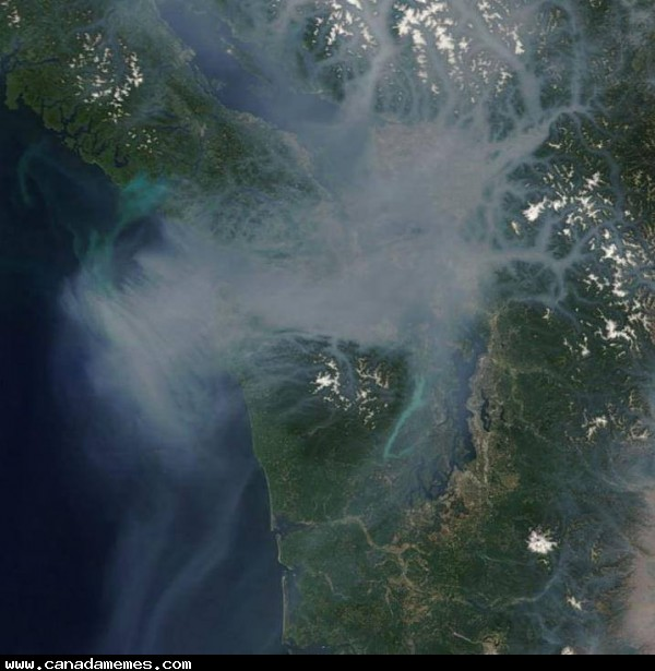 Who's on the west coast? It's so hazy here on Vancouver Island