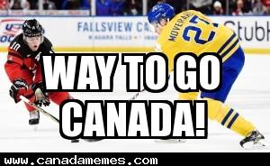 Woo Hoo! Canada wins gold at world junior hockey championship!