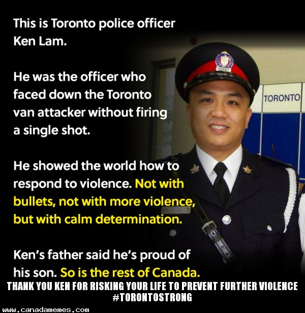 Thank you Ken for risking your life to prevent further violence #TorontoStrong