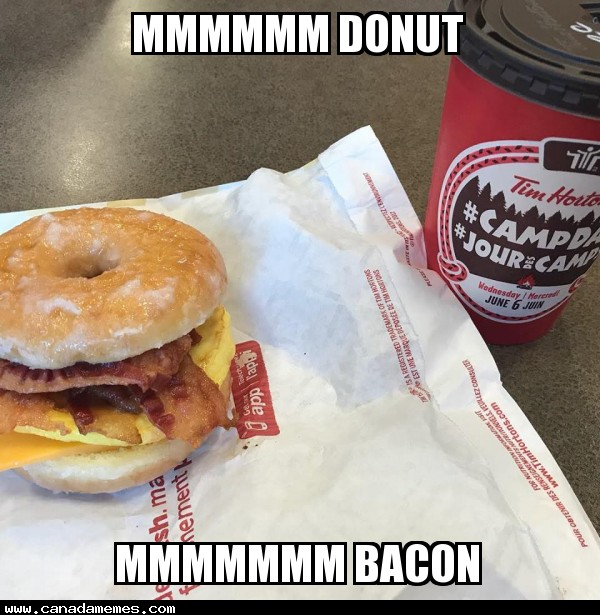Happy Donut Day! Who has tried the Timmies Donut Breakfast Sandwich yet? I got mine with EXTRA bacon!