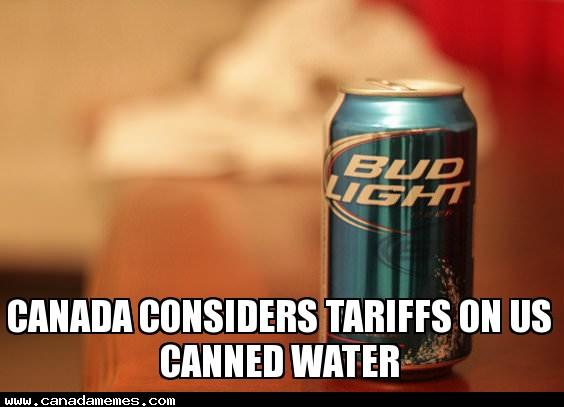 Canada considers tariffs on US canned water
