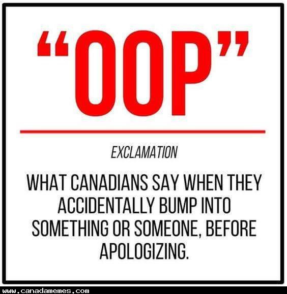 Guilty! As a Canadian, I must admit, this is very valid!