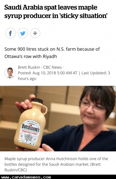 🇨🇦 Sad to see a small business suffer because of trade wars between two countries
