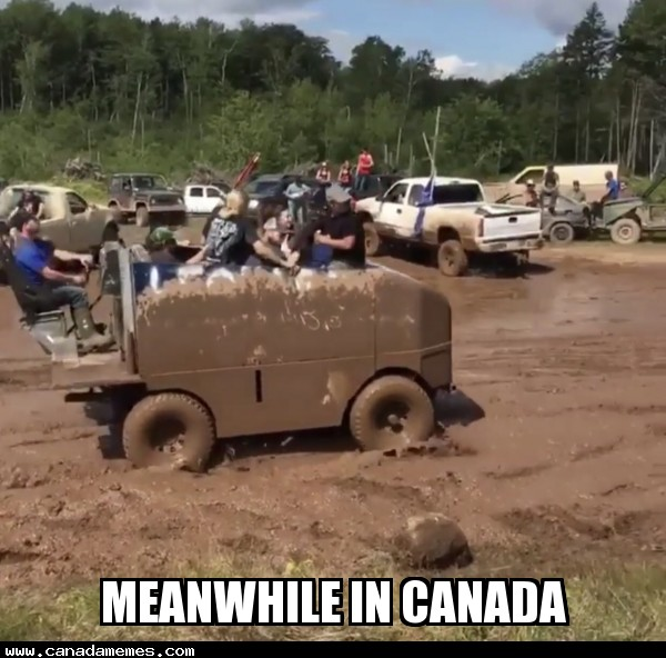 🇨🇦 Yes, that's a zamboni in the mud races