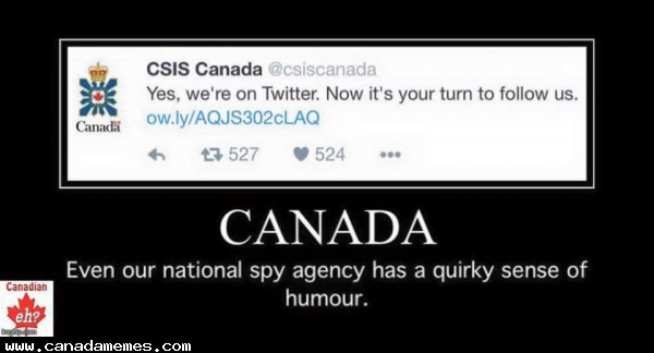 🇨🇦 Even our spy agency has a sense of humour