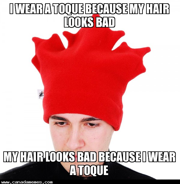 🇨🇦  Canadian Problems - Toques and bad hair