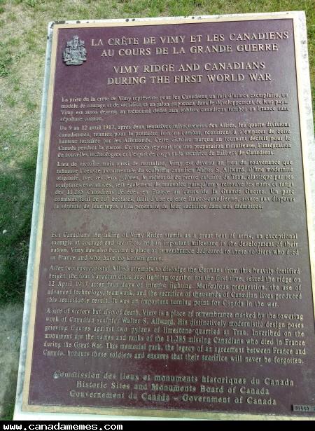 🇨🇦 Canadian World War 1 Memorial - Vimy, France