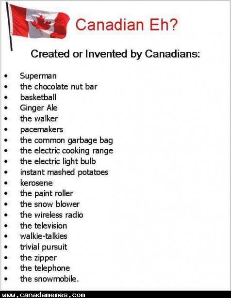 🇨🇦 Some of the many Canadian inventions