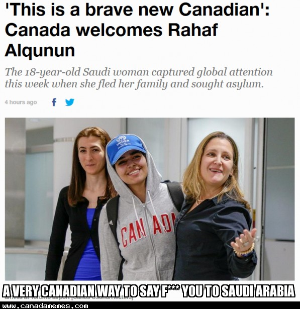 🇨🇦 A very Canadian way to say F*** you to Saudi Arabia