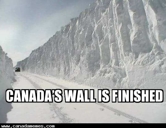 🇨🇦 Canada announces that their wall is finished
